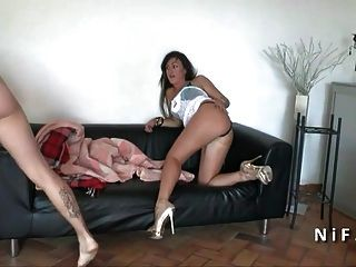 Pretty Amateur French Babe Hard Anal Fucked By Her Bf