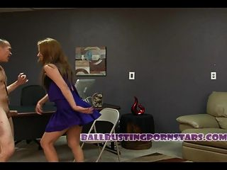 Latina Cheerleader Ballbusting Blowjob With Camille Luxx