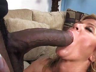 Blonde Mature Cougar Milf Sucking Big Black Cock