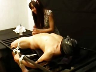 Handjob On Tied Guy With Post Orgasm Torture