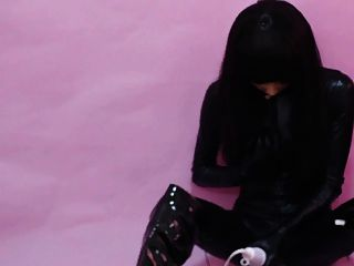 Kigurumi Rubber Doll Plays With Herself