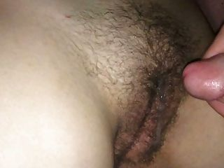 Jack Off And Cum On Her Hairy Pussy