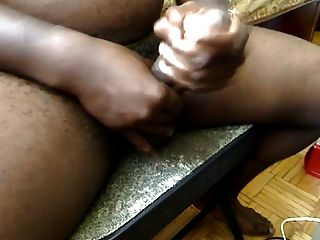 Big Black Daddy Shooting A Load