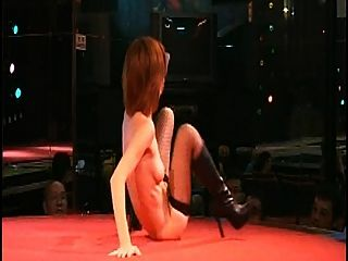 Sexy Hairy Japanese Stripgirl Nude On Stage Japan Night Club