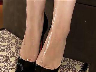 Cum On Heels And Feet