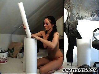 Naughty Amateur Milf Sucks And Fucks At Home