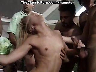 Sandy, Rebecca Lord, Rocco Siffredi In Classic Porn Clip
