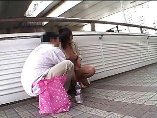 Fucked On A Bridge In Japan