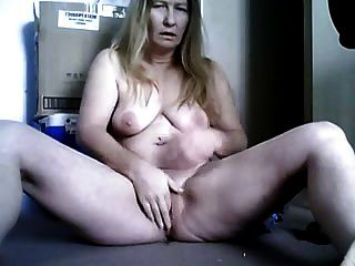 Mature Blonde Masturbating In Front Cam