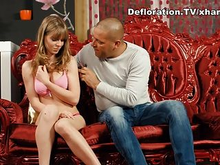 Big Guy Seduces A Blonde Virgin