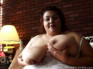 Huge Tits Horny Bbw Plays With Her Fat Pussy For You