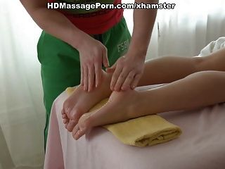 Sexy Girl Has Gentle Foot Massage And Then Fucked Hard