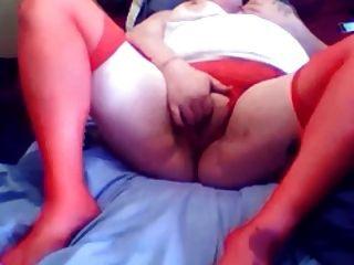 Red Soaks Muture  Bbw Solo Play Cumming Hard