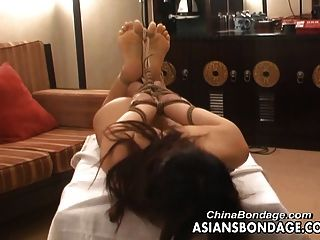 Asian Teen Is Tied Up For The Bdsm Photo Shoot