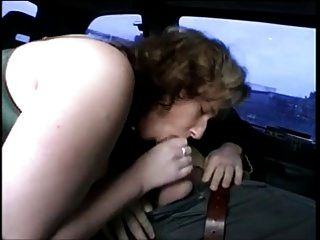 Chubby German Milf Sucking And Fucking In A Car
