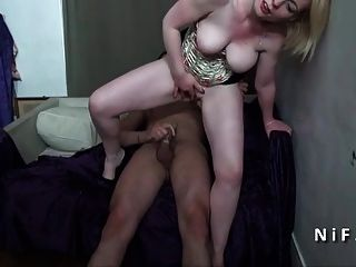 Hairy And Busty Amateur French Mom Fucked Hard