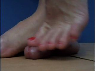 Cbt Barefeet Trample With Cum 1