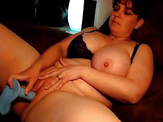 Gordious Bbw Uses Dildo In Her Nice Fat Pussy