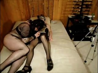 Sucking And Then Fucked In The Ass With A Strap-on