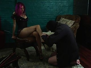Slave Licking His Mistresses Feet