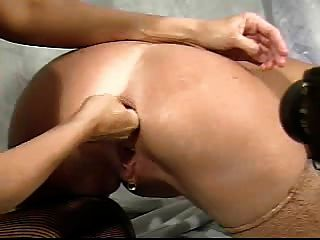 Lesbian Ass Fisting With Two Blondes