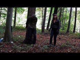 Femdom  Mistress German  Cruel Outdoor Punishment