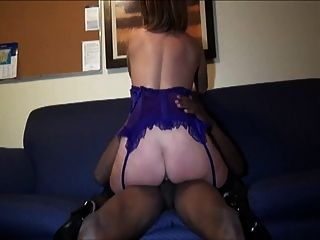 Horny Wife Gets Facialized And Fucked By Black Friend