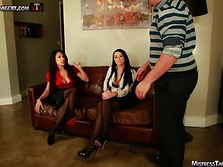 Tangent And Alexis Grace Femdom Foot Domination