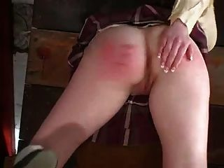 School Girl Strapping