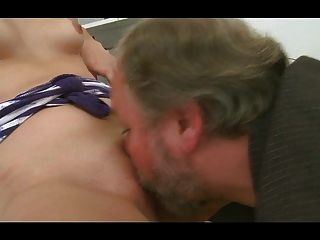 Young Brunette Fucked By Old Interviewer