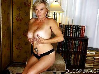 Old Spunker Loves Talking Dirty & Fucking Her Juicy Pussy