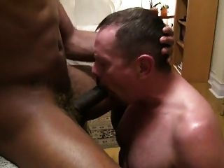 Black Muscle Stud Fucked By Daddy