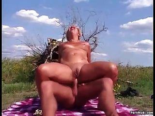 Oma Anal Ficken Im Freien