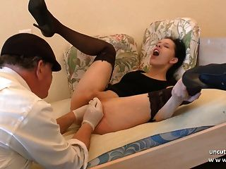 Naughty Amateur French Brunette Hard Analyzed N Double Fist
