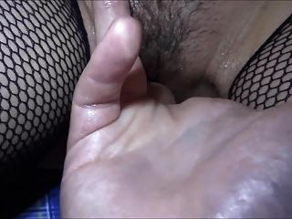 A Student Cums On Her Pussy