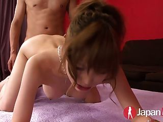 Busty Japanese Teen Double Creampie