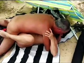 Older Straight Hung Daddy Fucks A Woman On The Beach