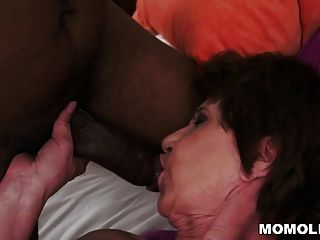Old Bbc Filled Hungry Granny Pussy