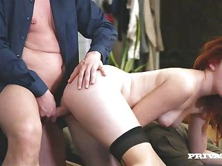 Sexy Red Head Amarna Miller Gets Cum On Her Hairy Pussy