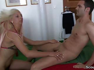German Amateur Teen In First Time Casting With Stranger Boy