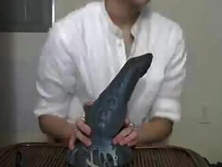 Japanese Cute Twink Licking Dildo Saliva