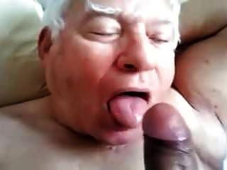 Silver Daddy Blowjob