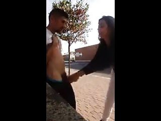 T-girl Plays With Homeless Dude
