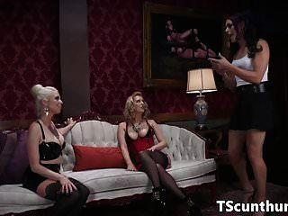Ts Trio Fucked By Classy Females