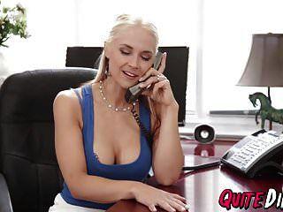Horny Blonde Sarah Vandella Gets Fucked Hard In Her Office