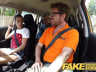 Fake Driving School Horny Learners Secret Suck And Fuck