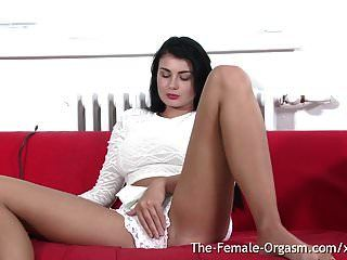 Babe With Big Natural Breasts Bates To Two Real Orgasms