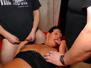 Chubby German Granny Gangbang