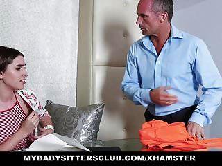 Mybabysittersclub - Horny Blonde Babysitter Fucks Boss
