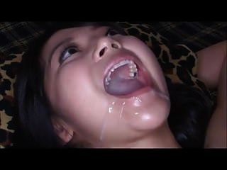 Japanese Cutie Swallows A Huge Mouthful Of Cum